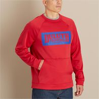Men's Training Basics Crew Logo Sweatshirt CLASRED