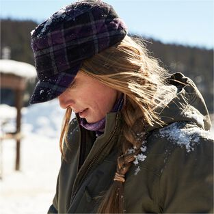 Women's Plaid Quilted Trapper