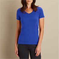 Women's No-Yank Short Sleeve V-Neck T-Shirt RICH P