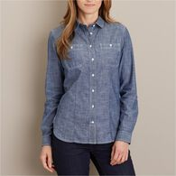 Women's Chambray Long Sleeve Shirt INDGCHB XSM