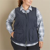 Women's Plus Heirloom Gardening Vest NAVY 2X