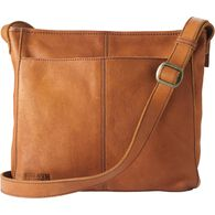 Women's Lifetime Leather Medium Sling Bag COGNAC