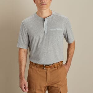 Men's TradeTek Wicking Short Sleeve Henley