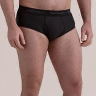 Men's Buck Naked Performance Briefs GRPHITE MED