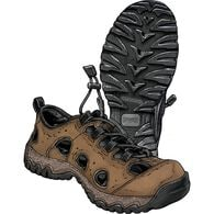 Men's Wild Boar Oiled Leather Sandals BROWN 085 ME