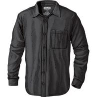 Men's No Polo Long Sleeve Button Down Shirt BLACK
