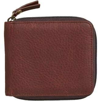 Lifetime Leather Small Zip Wallet  BROWN