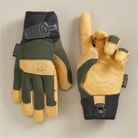 Men's Duluth D2 Leather Work Gloves BLACK SM