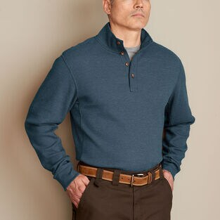 Men's Burly Thermal Button Mock Neck Shirt