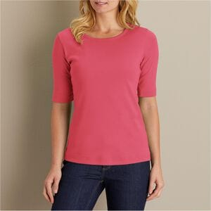 Women's Longtail T Elbow Sleeve Scoopneck
