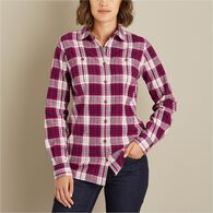 Women's Free Swingin' Flannel Shirt RVTPLAD MED
