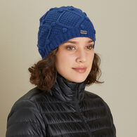 Women's Cable Knit Cinch Beanie