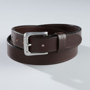 Men's Lifetime Leather Silver Buckle Belt