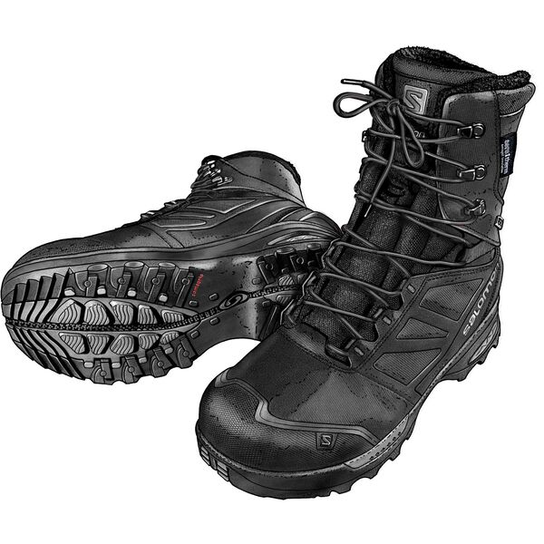 Men's Salomon Toundra Pro CS WP Boots BLACK 11 MED
