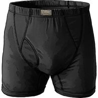 Men's Free Range Cotton Short Boxer Briefs BLACK M