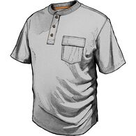 Men's Spillfighter Henley T-Shirt with Pocket GRAY
