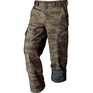 Men's DuluthFlex Fire Hose Fleece-Lined Camo Pants