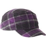 Women's Quilted Trapper Plaid Cap PRBKCMB XLG