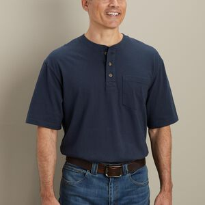 Men's Longtail T Short Sleeve Henley with Pocket