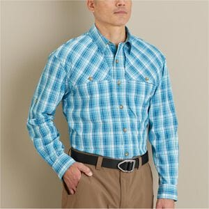 Men's No Fly Zone Long Sleeve Plaid Shirt