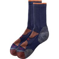 Women's Stay-Put Copper Crew Socks STRMBLU LRG