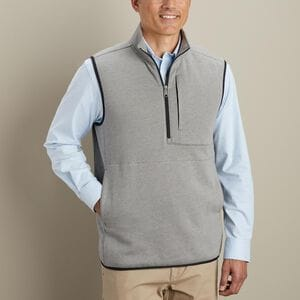 Men's Threshold Fleece 1/4 Zip Vest