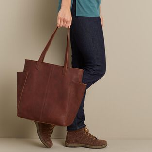 90e642a2a Women's Lifetime Leather Tote Bag | Duluth Trading Company