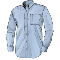 Men's Magnet Front Wrinklefighter Long Sleeve Solid Shirt