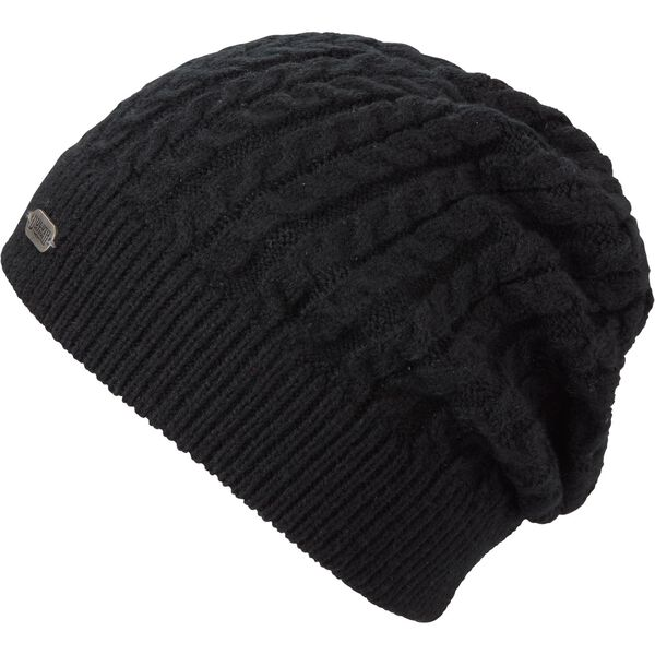 Women's Gathered Slouch Beanie BLACK