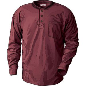 Men's Longtail T Relaxed Fit Long Sleeve Henley T-Shirt