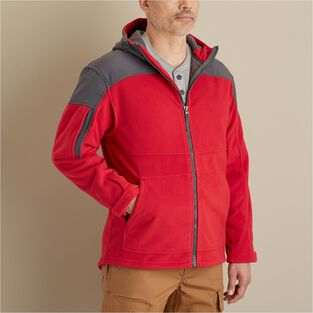 Men's Shoreman's Fleece Grid-Lock Hooded Jacket