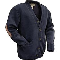 Men's Shetland Wool Cardigan DARKINK MED REG