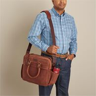 Men's Leather Pilots Bag BROWN