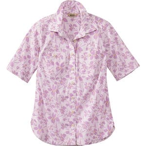 Women's Printmaker Poplin Elbow Sleeve Shirt