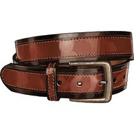 Men's One's Enough Two-Tone Leather Belt BROWN 034