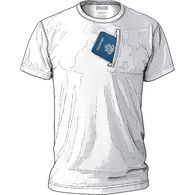Men's Buck Naked Travel Crew Undershirt WHITE LRG