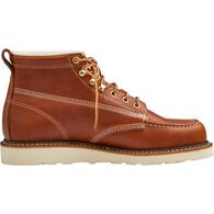 Men's 6'' Contractor's Moc Toe Boots BROWN 13 MED