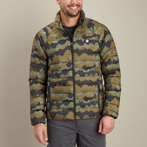 Men's AKHG Eco Puffin Print Mock Jacket