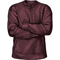 Men's Burly Retirement Henley Sweater BCYHTHR MED