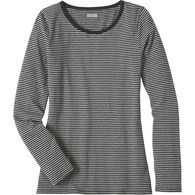 Women's Plus No-Yank Long Sleeve Scoop Neck BGYHST