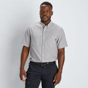 Men's 40 Grit Chambray Standard Fit Short Sleeve Shirt