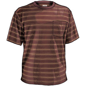 Men's Longtail T Short Sleeve Stripe T-Shirt with Pocket