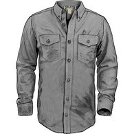 Men's Chambray Trim Fit Long Sleeve Shirt GRAYCHB