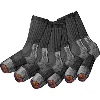 Men's 6-Pack Lightweight Everyday Crew Socks