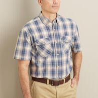 Men's Free Swingin' Short Sleeve Plaid Shirt CHAPL