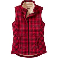 Women's Quilted Flannel Plaid Vest RDPLAID LRG