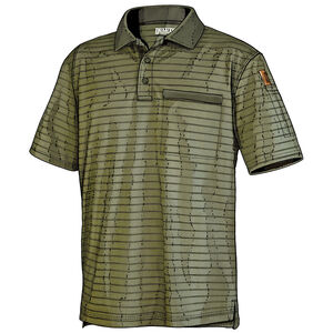 Men's Knuckledown Short Sleeve Stripe Polo with Pocket