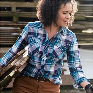 7db232b2 Women's Crosscut Wicking Flannel Shirt | Duluth Trading Company