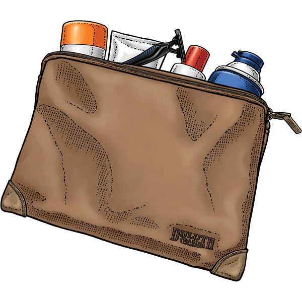 Fire Hose Small Parts Bag - Large BROWN