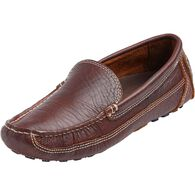 Men's Bison Leather Driving Moccasins DRKBRWN 9  M